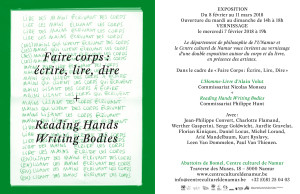 FLorian Kiniques Reading Hands Writing Bodies